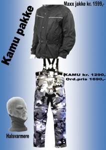 Bilde av   KAMU PAKKE   jakke,kamubukse,halsvarmere