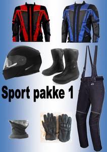 Bilde av   SPORT PAKKE 1:Full pakke jakke,bukse,støvler,hjelm,hansker,hal